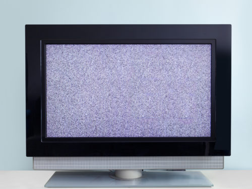 壊れたテレビ