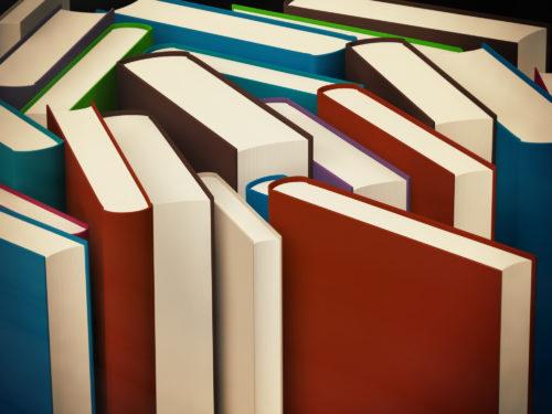 床に本を並べる