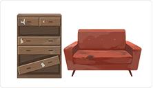 家具の処分または買取